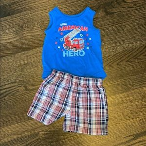 Tank top onesie / shorts outfit bundle
